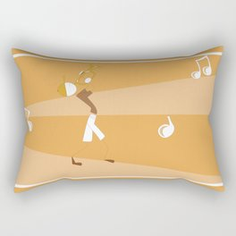 Bonhomme Bâton Trompettiste Rectangular Pillow