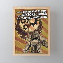 Fallout 3 - Brotherhood of Steel recruitment flyer Framed Mini Art Print