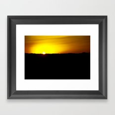 Illinois Sunset Framed Art Print