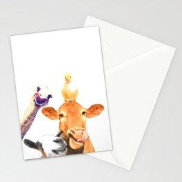 Farm Animal Friends Stationery Cards