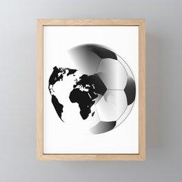 Earth Football Framed Mini Art Print