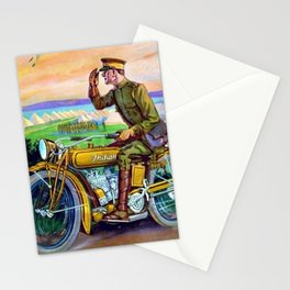 1918 WWI Vintage Motorcycle Dealer's Sign - Advertising Poster Stationery Cards