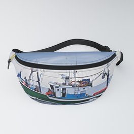 Traditional fishing boat off Tenerife in the Canary Islands Fanny Pack