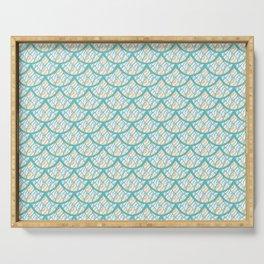 Mermaid Scales Pattern - Seaside Palette Serving Tray