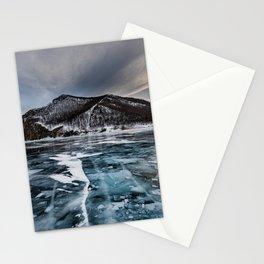 Olkhon Island 4k winter Lake Baikal ice Russia Stationery Cards