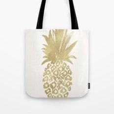 Gold Pineapple Tote Bag