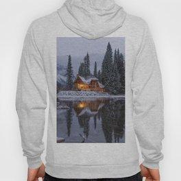 Cabin in Winter Woods (Color) Hoody