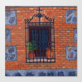 Toledo window Canvas Print