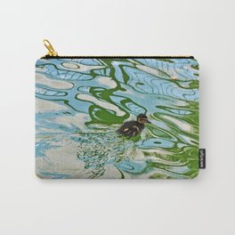 Mallard duckling swimming Carry-All Pouch