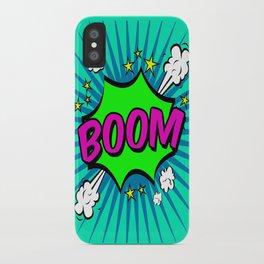 Boom Blue Boom iPhone Case