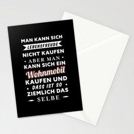 Wohnmobil kaufen = Lebensfreude Geschenk Stationery Cards