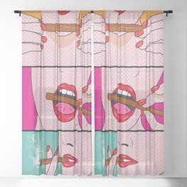 comics Sheer Curtain