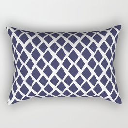 Rhombus Blue And White Rectangular Pillow