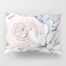 Succulent Blooms Pillow Sham