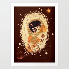 The Little Match Girl 卖火柴の小女孩 Art Print