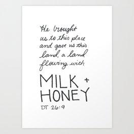 Milk + Honey Art Print