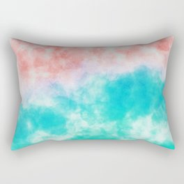 Orange and green watercolor effect Rectangular Pillow