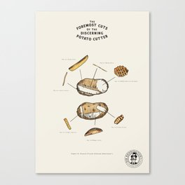 The Foremost Cuts of the Discerning Potato Cutter Canvas Print