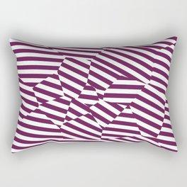 Mulberry Strip - Voronoi Stripes Rectangular Pillow