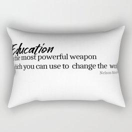 Education #minimalism Rectangular Pillow