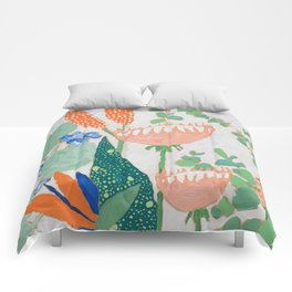 Proteas and Birds of Paradise Painting Comforters