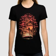 Burning In The Skies Womens Fitted Tee Black LARGE