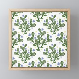 Tropicalish Tiles Framed Mini Art Print