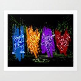 TMNT Rock Art Print