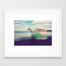 NEVER STOP EXPLORING THE BEACH Framed Art Print
