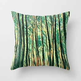 tree of paint Throw Pillow