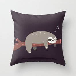 Sloth card - good night Throw Pillow