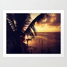 Sunset Dip Art Print