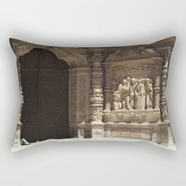 The gossipers and the green witch Rectangular Pillow