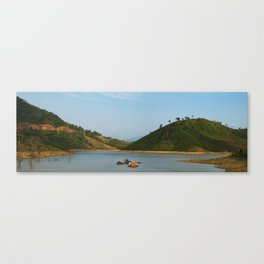 Living on the river Canvas Print