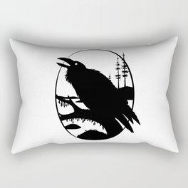Raven Silhouette IV Rectangular Pillow