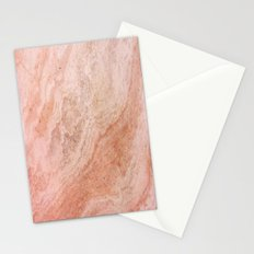 Polished Rose Gold Marble Stationery Cards