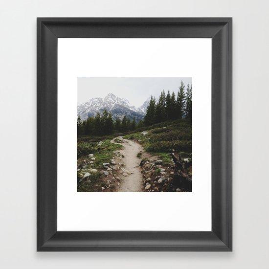 Teton Trail Framed Art Print