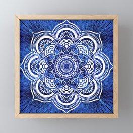 Mandala Blue Colorburst Framed Mini Art Print