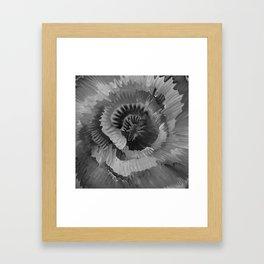 Invagination BW Framed Art Print