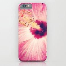 Pink Hibiscus Slim Case iPhone 6s