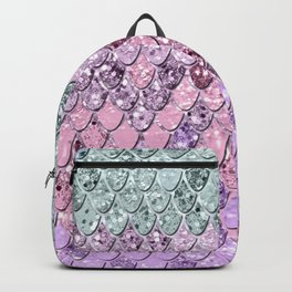 Mermaid Scales with Unicorn Girls Glitter #4 #shiny #pastel #decor #art #society6 Backpack