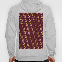 Hammy Pattern in Burgandy / Deep Red Hoody