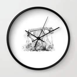 Skeleton of a Monster Bear Illustration Wall Clock