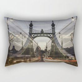 Budapest traffic Rectangular Pillow