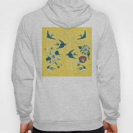 swallows and flowers Hoody
