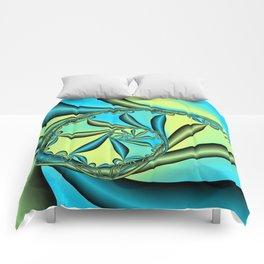 River Vine Fractal Comforters