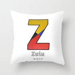 Zulu - Navy Code Throw Pillow