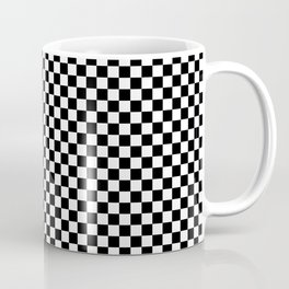 Black White Checks Minimalist Coffee Mug