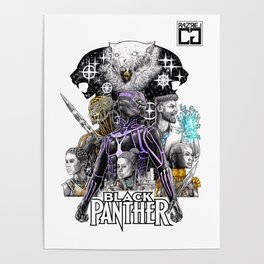 Black Panther Fan Piece Poster