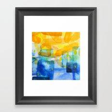 Sunburst Watercolor Framed Art Print